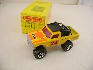 1983 MATCHBOX SUPERFAST #13 4X4 DUNES RACER OPEN BACK PICKUP TRUCK NEW IN BOX