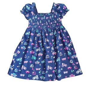 Blue Zoo Girls Shirred Print Dress 2-3yrs