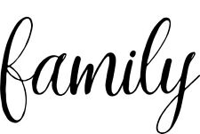 Family vinyl decal sticker aphorism words wall warmth home