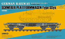 ◆ Sabre Model 1/35 GERMAN RAILWAY SCHWERER PLATTFORMWAGEN Type SSys #35A02