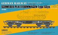 ◆ Sabre Model 1/35 GERMAN RAILWAY SCHWERER PLATTFORMWAGEN Type SSys #35A02
