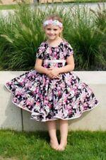 134 Mädchenkleider Einschulung aus 100% Baumwolle für Größe