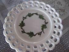 milk glass lattice plate
