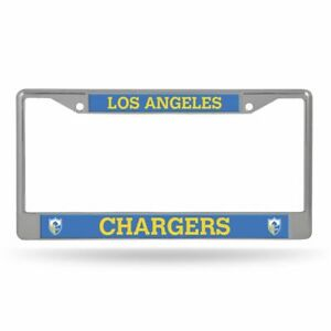 Los Angeles Chargers Retro Logo Chrome Metal License Plate Frame