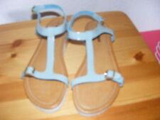 NEU von GINO ROSSI Gr. 37 Sandaletten, Sandalen; Riemchensandalen Leder hellblau