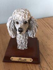 Schön Vintage Pudel (Farbe Silber) Kopf Deko / Sammelobjekt Hund Büste