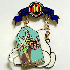 Disney Pin 78260 DLR Trading 10th Anniversary Decade Tinker Bell Luggage Tag LE