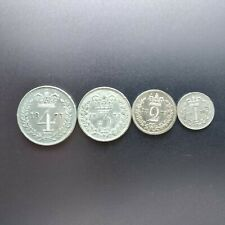 More details for 1873 queen victoria silver maundy coin set of 4 coins