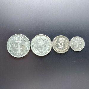 1873 Queen Victoria Silver Maundy Coin Set of 4 Coins