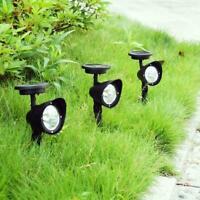 4LED Solar Power Garden Lamp Spot Light Outdoor Lawn Landscape Path Spotlight Fa