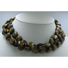 3 Separate .925 Sterling Silver High Grade Tigers Eye Tier Necklace Necklaces