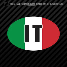 Italy Oval Sticker Self Adhesive Vinyl Italian Country Code euro IT v4