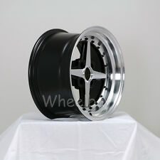 "ROTA WHEEL ZERO PLUS 15X8 20 4X100 FRBLK  MIATA COROLLA MR2 CIVIC  3 "" LIP"
