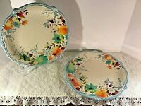 The Pioneer Woman Willow 10.75-Inch Dinner Plates, Stoneware Floral Design Set 2