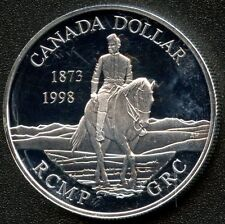 1998 Canada Proof Silver Dollar ( RCMP 125th ) 25.175 Grams .925 Silver