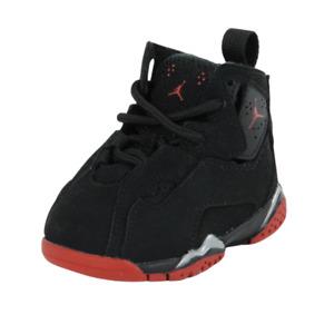 Nike Air Jordan True Flight BT 343797 003 Toddlers Shoes Leather Black Sneakers