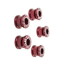 KCNC AL7075 Road Bike Bicycle Cycling PAT.216197 Single Chainring Bolts - Red
