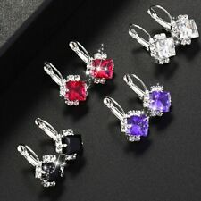 2018 Stone Rhinestones White Red Square Crystal Drop Earrings For Women  Stateme