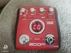 Zoom Bass effects pedal B2 Multi-Effector.