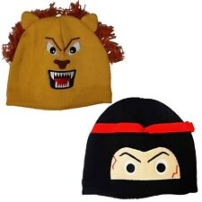 Kids Knit Hat School Playing Running Travel Ski Cycling Camping Look Out Beanie