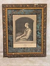 Lady Holding a Letter Engraving after G Terburg by Wille Framed & Window Matted