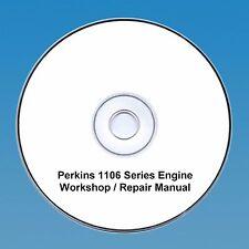 Perkins 1106 Series Motores Taller reparación Manual CD Pdf