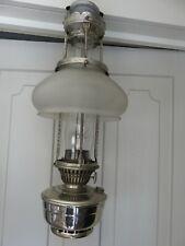 VINTAGE ORIGINAL COMPLETE ALADDIN HANGING TRAIN OIL LAMP MODEL12 SHADE CHIMNEY