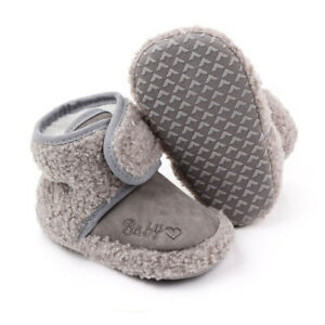 Booties Newborn Snow Crib Pram Shoes Warm Winter Faux Fur Lined Boots Baby Girl