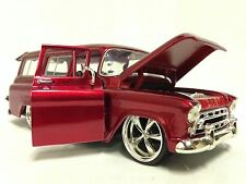 1957 Chevrolet Suburban, 1:24 Diecast Scale, Collectible, Jada Toys, Candy Red