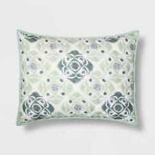 THRESHOLD Green Linework Pillow Sham , Standard, NEW
