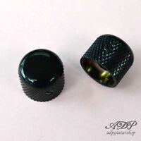 2xBoutons Metal Gotoh ShortDome Knobs 19x16 SplitShaftPots MK3150 Black CLOSEOUT