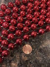 12 Feet Shiny Red 1/2� Beads Beaded Christmas Tree Garland