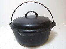 Vintage Griswold #8 Cast Iron Dutch Oven Black Pot Cookware w/ Lid