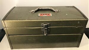 Vintage PARK MODEL 84446 Mechanics Tool Box with Tray  Very Good Condition USA.