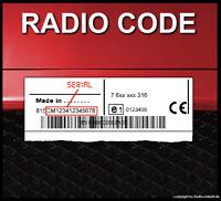 █► RADIO CODE passend für Bosch Fiat 500 Punto Linea Ducato Panda Stilo Doblo