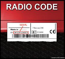 █► RADIO CODE passend für Bosch Fiat 500L Multipla Scudo Qubo Bravo - UNLOCK