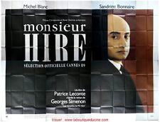 MONSIEUR HIRE Affiche Cinéma GEANTE 4x3 WIDE Movie Poster MICHEL BLANC