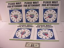Sam's Club Road Show Please Wait for Attendant Signs Lot of 5
