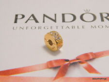 Authentic PANDORA 14k Gold Shining Elegance Clip Charm 750842CZ