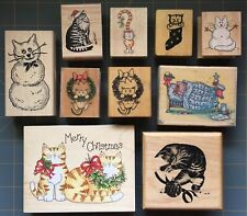 HOLIDAY CAT & KITTEN RUBBER STAMPS ~ RARE PSX STAMPS HAPPEN ANM etc ~ YOU PICK
