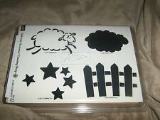 Stampin' Up Definitely Decorative Counting Sheep 2001 set/4 Unmounted Rare