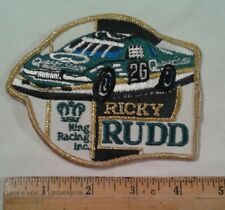 Vintage Ricky Rudd Patch #26 Quaker State Motor Oil King Racing Nascar