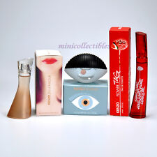 KENZO 3 Mini Perfume Miniature JEU D'AMOUR  KENZO WORLD  FLOWER TAG New in Box
