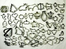 Antique Set of Tin Cookie Cutters 59 pieces