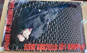 Elvis Costello Get Happy!! Original 1980 Large Promo Poster