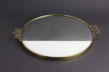 Wandspiegel Messing Vintage Rockabilly Spiegeltablett Rund Gold
