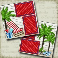 Beach Chair - 2 Premade Scrapbook Pages - EZ Layout 4066