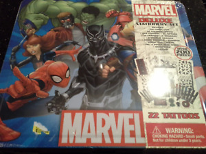 Marvel Deluxe Stationary Set Over 200 Pieces 22 Marvel Tatoos