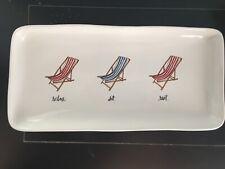 Brand New Rae Dunn Platter Relax Sit  Rest - Summer Beach Chair