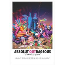 """ABSOLUTE """"OUT """" RAGEOUS POSTER   24 BY 36  NEW"""